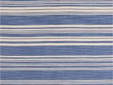 French Blue area Rugs Cottage Striped Hand Woven Flatweave Ivory French Blue area Rug