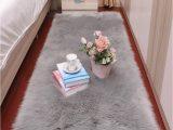 Fur area Rugs for Sale Us $25 34 Off Sholisa Faux Fur Rug Fluffy area Carpet Rectangle Belt Shape 6cm Pile Fluffy Carpet for Living Room Bedroom Sea Set Home Deco Rug