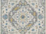 Garland Classic Berber area Rug Abani Vintage Pattern Plush area Rug 5×8 Light Grey & Ivory