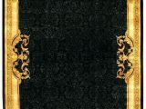 Gold Color Bath Rugs Black and Gold Rugs Black and Gold area Rug G Black Gold