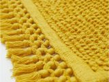 Gold Color Bath Rugs Textured Weave Bath Mat Mustard Yellow Home All