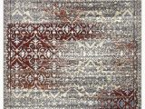 "Gray and Maroon area Rugs Artemis Collection Vintage oriental area Rug 1006a Burgundy 5 2"" X 7 6"""