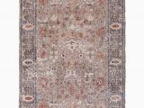 Gray and Rust area Rug Aliza In Gray Rust Rug