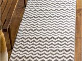 "Gray and White Striped area Rug Super area Rugs Classic Chevron area Rug Gray 2 7"" X 7 10"" Runner"