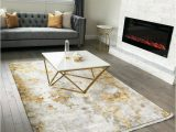 Gray Living Room area Rug 5×7 Contemporary area Rug White Gold Gray Ebay