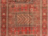Green and Red area Rugs Oblak Traditional Beige Green Red area Rug