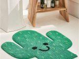 Green Bath Rugs Jcpenney Cactus Bath Mat