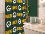 Green Bay Packers Bathroom Rug Set Nfl Green Bay Packers Shower Curtain 1 Each Walmart