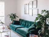 Green Couch Blue Rug Boho Style the Green Velvet sofa 20 Stylish Options Hey