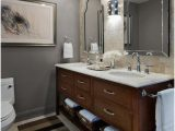 Grey and Beige Bathroom Rugs Bathroom Transitional Chicago area Rug Beige Floor Tile