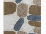 Grey and Beige Bathroom Rugs Cotton Pebbles Cotton Bath Runner 24×60 Bath Rug soft Absorbent Machine Washable Grey Beige Bath Rugs Runner Rugs Runner for Living