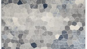 Grey and Navy Blue area Rug Capodanno Geometric Navy Gray area Rug