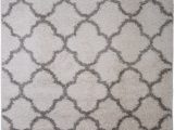 Grey and White area Rug 5×7 Nicole Designer area Rug Moroccan Trellis and Grey Synergy