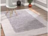 Grey and White area Rug 5×7 Porta Border Modern Geometric Shag 5×7 5 X 7 2 area Rug Greybeige Plush Easy Care Thick soft Plush Living Room