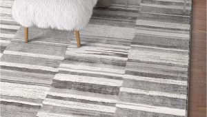 """Grey and White area Rug 5×7 Voyage Grey & White Modern Geometric High Low Pile area Rug 5×7 5 3"""" X 7 3"""" Abstract Boxes Carpet"""