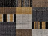 Grey Brown and Black area Rugs Stegner Premium Abstract Yellow Gray Light Brown Black area Rug