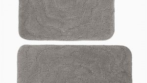 Grey Contour Bath Rug Set Of 2 Grey Bath Rug & Contour