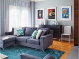 Grey Couch Blue Rug Grey and Blue area Rug Living Room Transitional with Wood