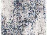 Grey White and Blue Rug Casper Distressed Modern Rug Blue Grey White