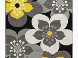 Grey Yellow White area Rug Oxford Collection Style 13 Yellow Grey Floral area Rug 2×3