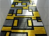Grey Yellow White area Rug Yellow Black Silver Grey Off White Small Medium Xx Large Rug New Modern soft Thick Carpet Non Shed Runner Bedroom Living Room area Rug Mat 66 X 230