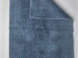 Grund organic Bath Rugs Grund Puro Series organic Cotton Reversible Bath Rug 17 Inch by 24 Inch Sea Blue