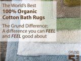 Grund organic Cotton Bath Rug Pin by Grund America On Shop Small
