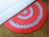 Half Moon Bath Rug Crochet Half Circle Cotton Rug Half Moon Rug Kids Room Nursery Kitchen or Bathroom