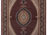 Halyn Hand Knotted Rug Blue Multi Caine Persian Tabriz 215x135cm
