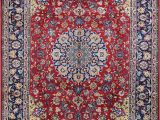 Hand Knotted Persian area Rug 10 X 15 Red Navy Hand Knotted Handmade Wool Persian area Rug