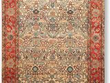 Hand Knotted Persian area Rug 6 X9 Beige Rust Aqua Blue Navy Gold Multi Color Hand