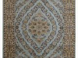 Hand Knotted Persian area Rug Persian oriental Hand Knotted Silk Green area Rug