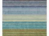 Hand Tufted Blue Wool Rug Pany C Hand Tufted Brushstroke area Rugs