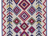 Hassett Ivory Blue area Rug N¦stved southwestern Handmade Tufted Wool Ivory area Rug