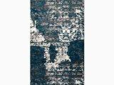 Haugan Blue area Rug Hackleburg Abstract Silver Blue area Rug