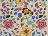 Hayes Blue area Rug Hayes Hand Hooked Beige Blue Pink area Rug