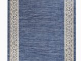 Hayes Blue area Rug Meyerwood Floral Shag 5 X 77 Denim Blue Indoor Outdoor area Rug