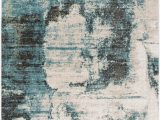 Hayes Blue Green area Rug Joselyn Distressed Abstract Blue Green area Rug