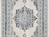 Hillsby Light Gray Beige area Rug Hillsby Persian Inspired Geometric Blue Beige area Rug