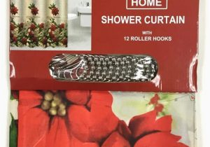 Holiday Bath Rug Set Amazon Com Christmas 14 Piece Bath Set Poinsettia Shower