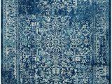 Home Depot Navy Blue Rug Evoke Eric Navy Ivory 8 Ft X 10 Ft Indoor area Rug