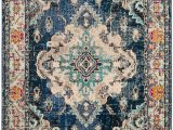 Home Depot Navy Blue Rug Monaco Moses Navy Light Blue 6 Ft 7 Inch X 9 Ft 2 Inch