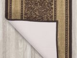 Home Depot Rubber Backed area Rugs Ottomanson Ottohome Collection Chocolate Contemporary