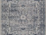 "Home Goods area Rugs 7×9 Ladole Rugs atlantis Persian Design Bordered Style European Durable Blue and Grey Indoor area Rug Carpet 7×9 6 7"" X 9 2"" 200cm X 280cm"