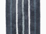 Hotel Collection Bathroom Rugs Hotel Collection Contrast Stripe Rug soft Bath Rug Designed to Add A Little Punch to Any Bathroom 22 Inch by 36 Inch Blue Walmart