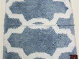 Hudson Park Bath Rug Hudson Park Bath Mat Rug Non Skid Scallop Blue White 22 X 36