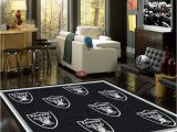 Huge area Rugs for Living Room Oakland Raiders area Rug