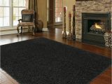 Huge area Rugs for Living Room Shaggy Extra Black area Rug