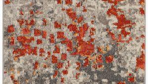 Indira Gray orange area Rug Indira Abstract Gray orange area Rug