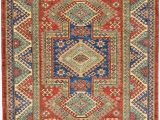 "Isanotski Brown Blue area Rug E Of A Kind Alayna Hand Knotted 5 8"" X 7 2"" Wool Red Blue area Rug"